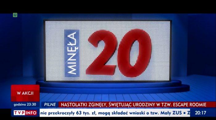 """TVP INFO odświeża """"Minęła 20"""". Nowa oprawa i sygnał programu"""